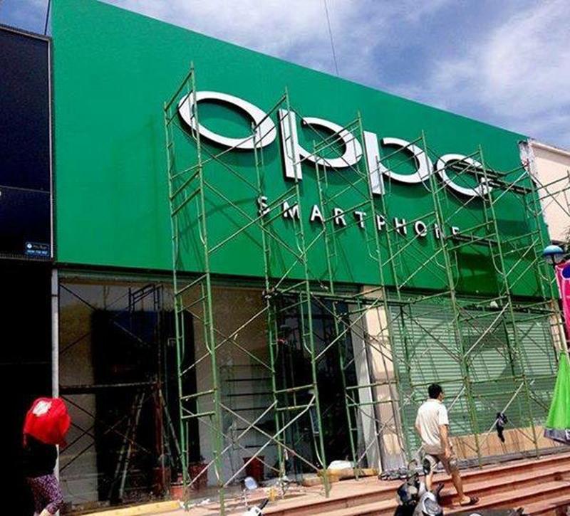 Bảng hiệu OppoBảng hiệu quảng cáo Oppo