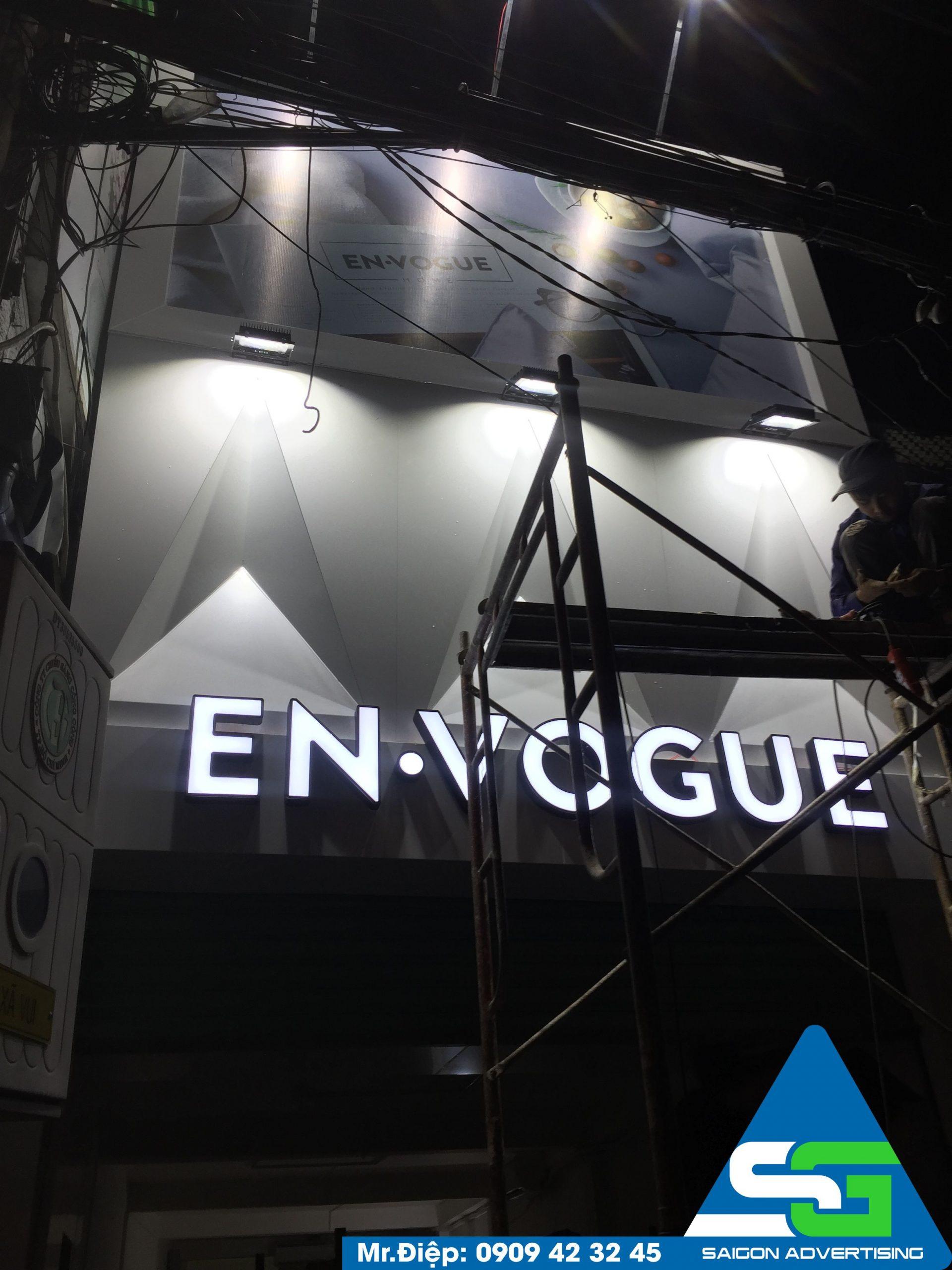 Mẫu bảng hiệu shop Envogue